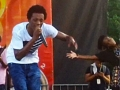Romain Virgo performing live at Grace Jamaican Jerk Festival 2015