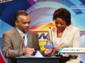 Jose Avila of The Garifuna Coalition and Arlene Mukoko, BronxNet Reporter announce Undefinable Vision as the 2015 Best Program Series Beta Award winner